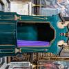 Green painted confessional inside of Basicila cathedral di S. Agata V.M. in Gallipoli, Puglia, Italy