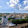 ROME. VATICAN CITY. VIEW FROM THE CASTEL SANT'ANGELO [HADRIAN MAUSOLEUM].