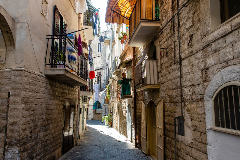 Old town of Bari in Apulia, Italy