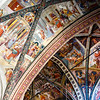 Rich decorated interior of the Duomo di Arezzo cathedral in the historic center of Arezzo, Tuscany, Italy, Europe