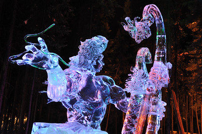 "FAIRBANKS, AK - MARCH 9: ""Aeolus"" Ice Sculpture, 2010 World Ice Art Championships March 9, 2010 in Fairbanks, Alaska"