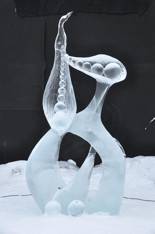 FAIRBANKS, AK - MARCH 9: Ice Sculpture, 2010 World Ice Art Championships March 9, 2010 in Fairbanks, Alaska