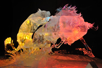 Attacking Claws Ice Sculpture - Fairbanks, Alaska