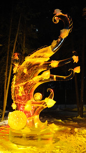FAIRBANKS, AK - FEBRUARY 27: Autumn Ice Sculpture, 2011 World Ice Art Championships on February 27, 2011 in Fairbanks, AK