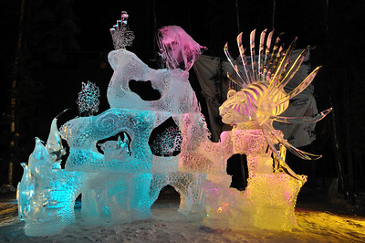 Salt Water Safari Ice Sculpture - Fairbanks, Alaska