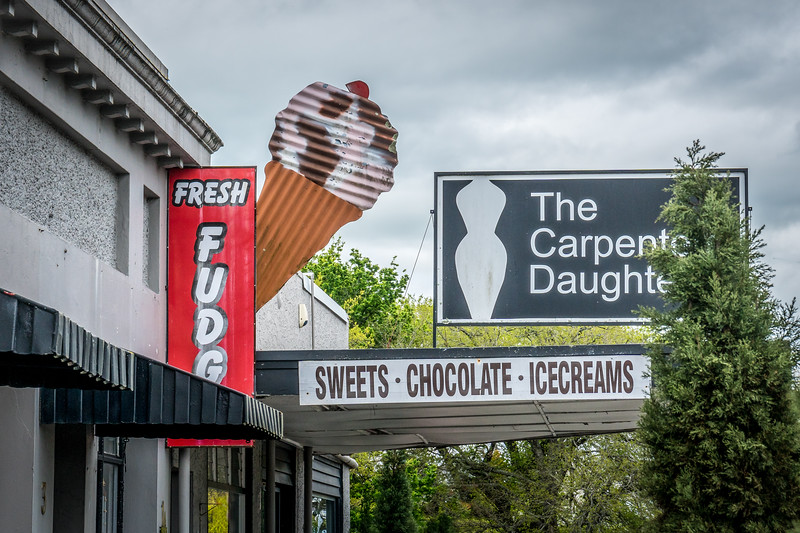 Ice cream shop in Tirau, New Zealand
