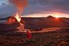 Volcano sunrise