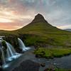 Classic view of Kirkjufell mountain