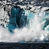 Glacier crashing