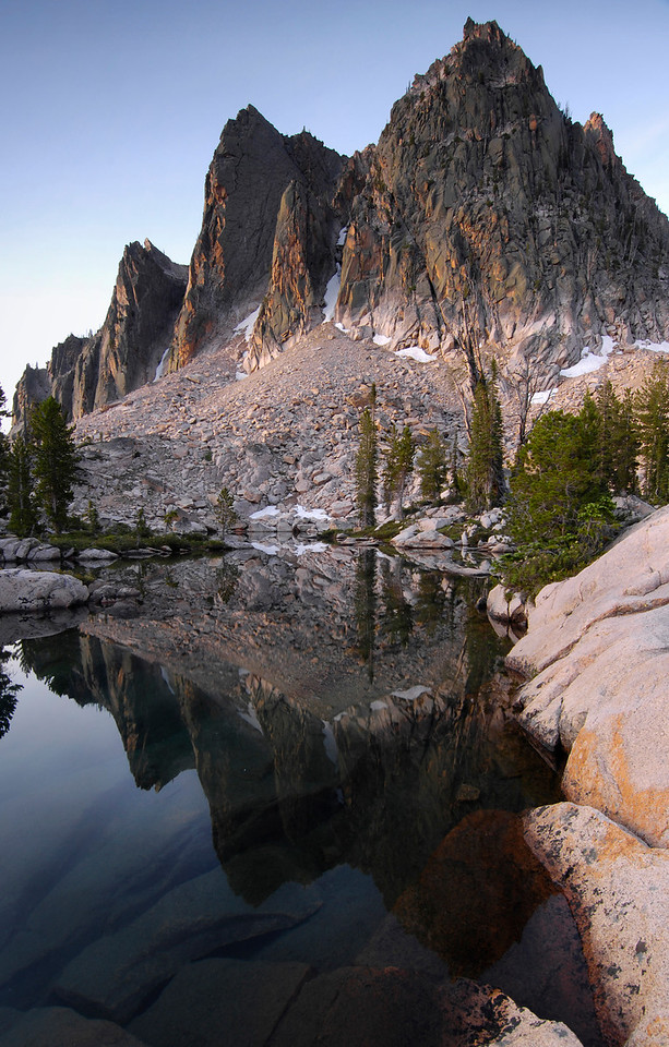 The Towers, Sawtooth Mountains - Idaho<br /> <br /> These elusive granite towers face away from any established trail system, making them invisible to all but the most intrepid hiker. All have been climbed in past years, and I have personally been repelled twice by the flat-iron face of the central tower.