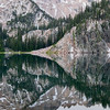 Stone Horizon, Sawtooth Mountains - Idaho<br /> <br /> A crystal reflection, early in the morning, at upper Cramer Lake.