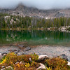 Upper Redfish Lake, Sawtooth Mountains - Idaho<br /> <br /> Hours before the first heavy snows of winter, Upper Redfish Lake reflects the misty mountains of the Packrat Ridge in its crystal waters.