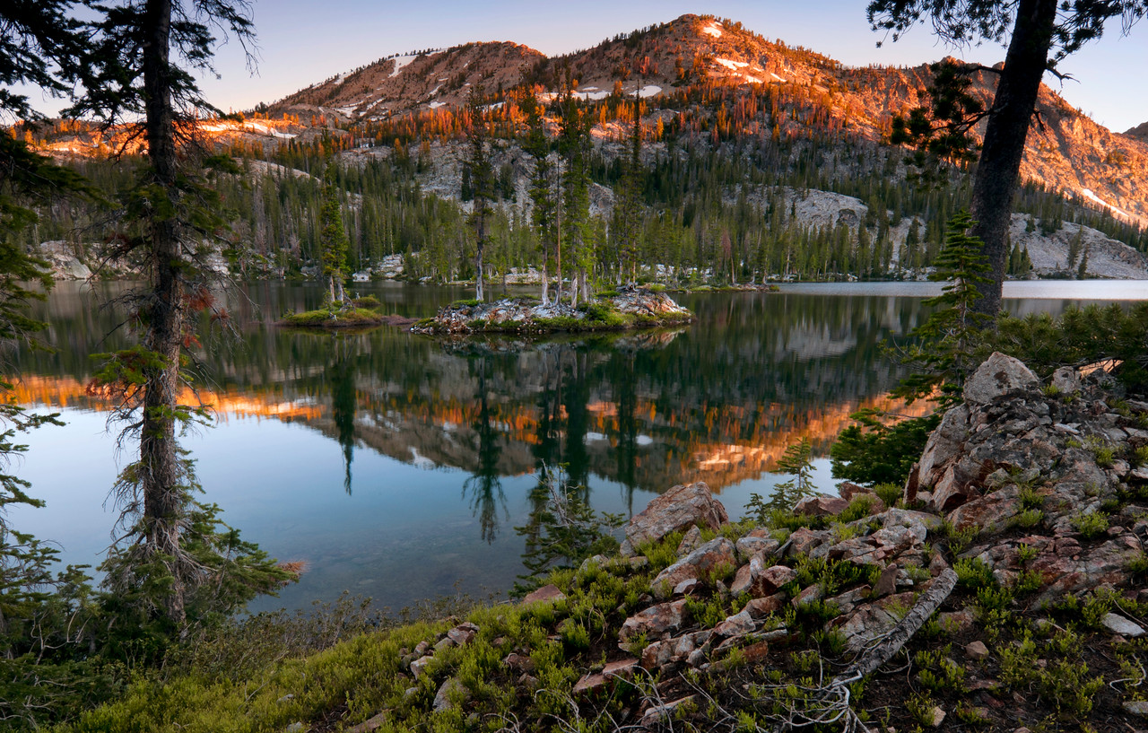Morning Whisper, Sawtooth Mountains - Idaho<br /> <br /> Dawn, during a whisper quiet morning in the Sawtooth Mountains. These moments are precious; and no two are ever quite the same.