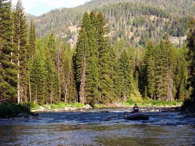 Early morning on Idaho's Middle Fork of the Salmon, July 2007.
