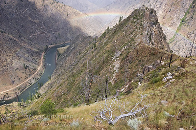 Rainbow above the Salmon River from the Stoddard Trail, Frank Church-River of No Return Wilderness, Idaho, July 2010.