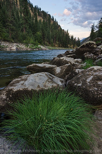 Quiet evening, Main Salmon river, Frank Church-River of no Return Wilderness, August 2014.