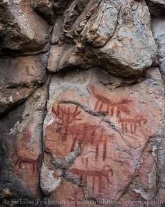 Tukudeka (Sheepeater Shoshone) rock art, Frank Church-River of No Return Wilderness, Idaho