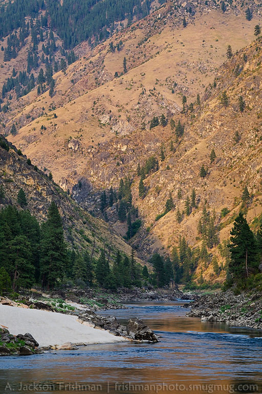 Evening light and the Main Salmon River, Frank Church-River of no Return Wilderness, August 2014.