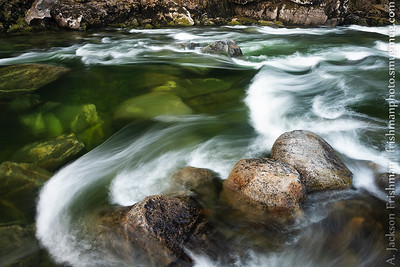 Glassy entrance to Cupboard Creek Rapid, Selway River, Idaho