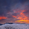 Winter Sunrise, Boise Foothills - Idaho<br /> <br /> Early morning, 6° above zero, halfway to Bogus Basin ski resort.