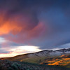 The Burning Bush, Boise Foothills - Idaho<br /> <br /> Late winter storms dust the foothills above Boise with a fleeting glimpse of snow as the setting sun lights the sky ablaze.