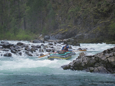 Nolan Verga in York Creek Rapid on Oregon's Illinois River, April 2011.