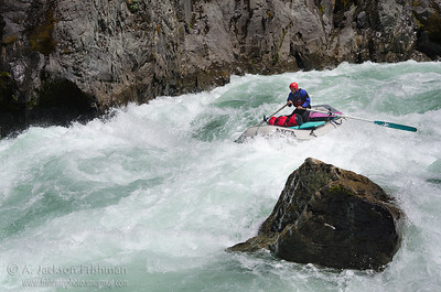 Thad Stavn on a sweet line in Greenwall, Illinois River, Oregon, April 2011.