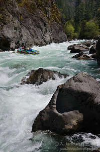Nolan Verga in Greenwall Rapid, Illinois River, Oregon, April 2011.