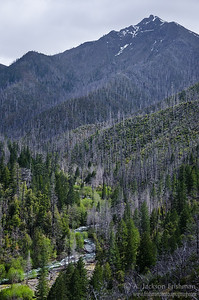 Unnamed peak above Klondike Creek, Kalmiopsis Wilderness, Oregon, April, 2011.