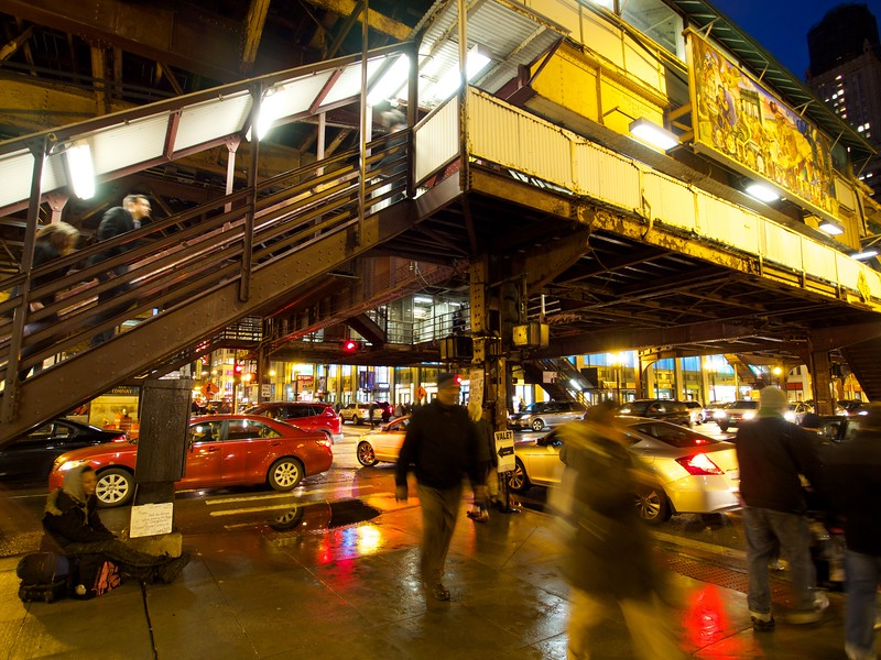 """The Chicago """"L"""" and motion blur - Chicago, Illinois"""