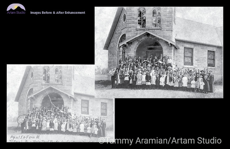 1912 community group photo, scanned and revived in 2011.