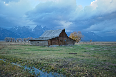 The old Moulton Barn, sunset