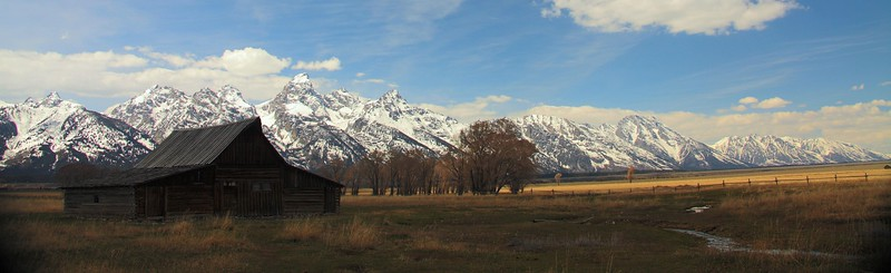 Mormon Barn at Antelope Flats, Grand Teton Park.