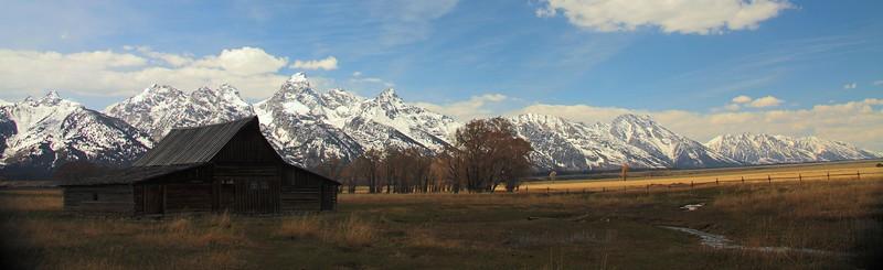 Mormon Barn at Antelope Flats, Grand Teton Park.