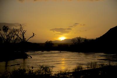 Sunset at Samburu National Reserve, Kenya