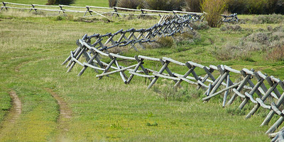 Wyoming fence at Triangle X ranch