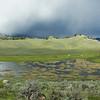 A storm hits Lamar Valley, Yellowstone National Park