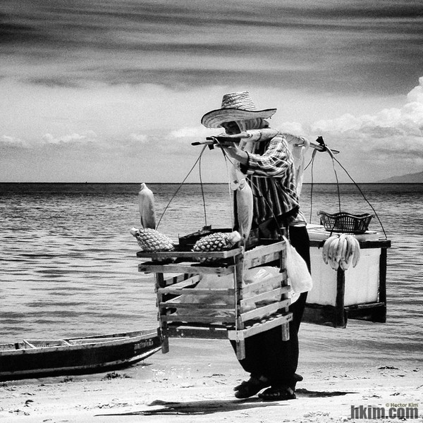 The Fruit Seller and Her Beach<br /> Koh Samui, Thailand