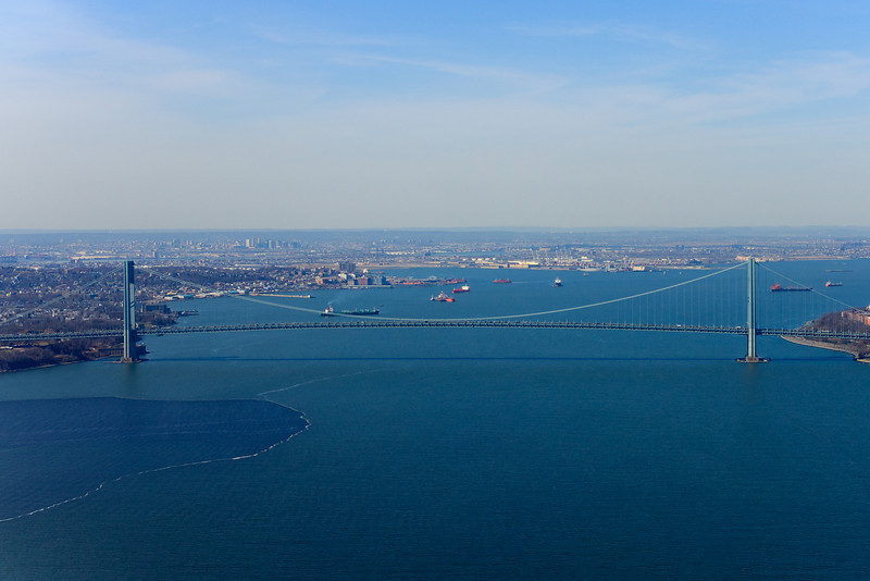 The Verrazano Narrows bridge.