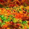 Colorful Brazilian vegetable dish