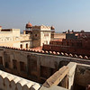 BIKANER. RAJASTHAN. VIEW AT THE ROYAL PALACE.
