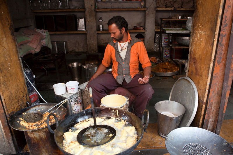 JAISALMER. RAJASTHAN. LITTLE INDIAN PANCAKE SHOP.