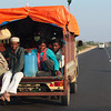 RAJASTHAN. ROAD FROM JAISALMER TO JODHPUR.