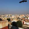 BIKANER. RAJASTHAN. CITY VIEW FROM THE JAIN TEMPLE.