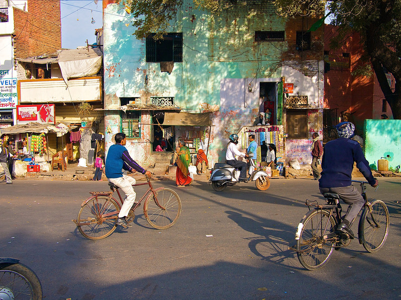 Cyclists - Agra, India