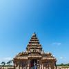 Exterior of the Shore Temple complex (Pallava dynasty) in Mamallapuram, Tamil Nadu, South India, Asia