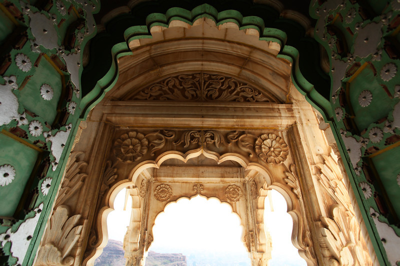 JODHPUR. RAJASTHAN. JASWANT THADA. DECORATES ENTRANCE.