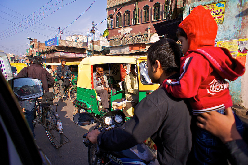A Mix of Vehicles #1 - Agra, India