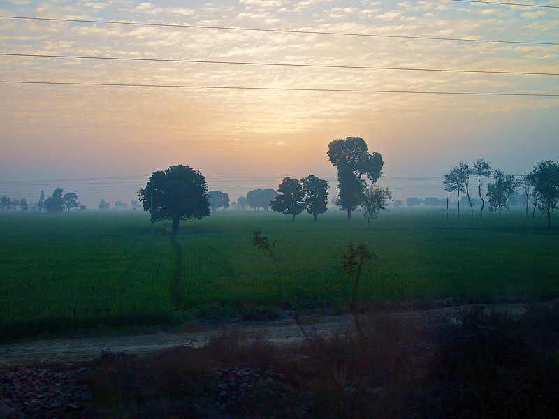 Indian Countryside #3, Shatabdi Express Train - Between Delhi and Agra, India