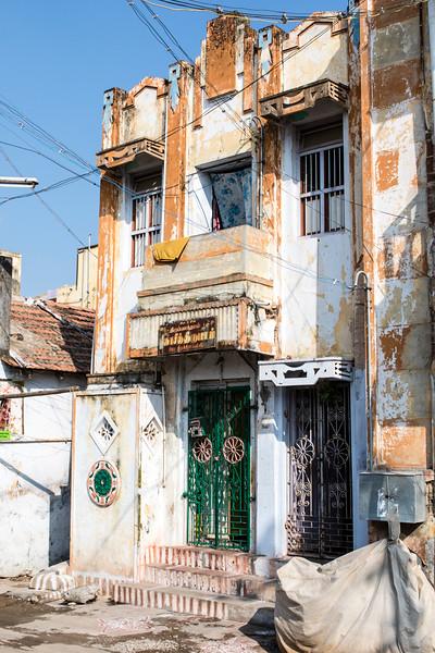TRICHY. TIRUCHARAPPALLI. TAMIL NADU. OLD HOUSE.